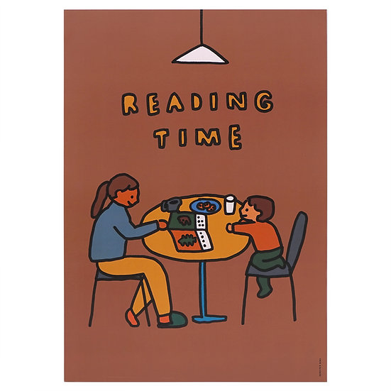 READING TIME   A3 poster