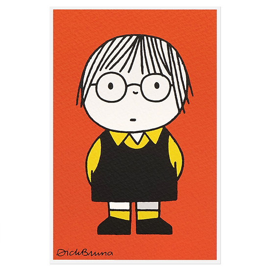 GIRL WITH GLASSES | Miffy Postcard