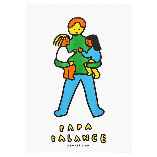 PAPA BALANCE 2 | A3 RISO poster