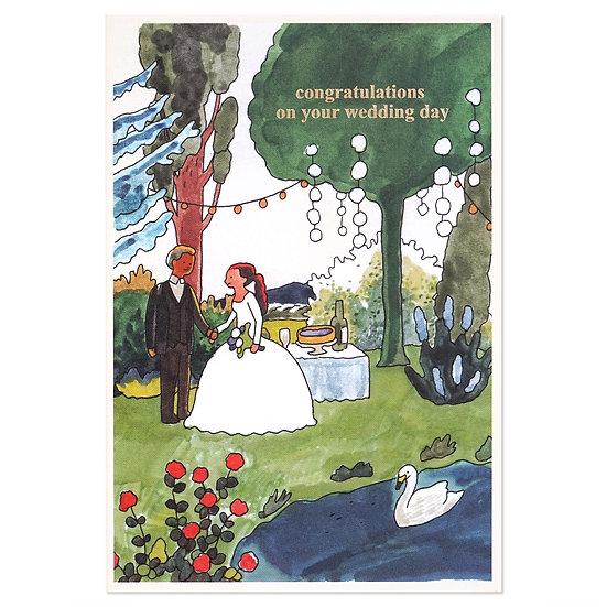 WEDDING COUPLE2   Cake card