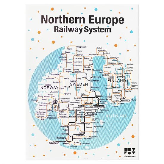 NORTHERN EUROPE   Silkscreen poster