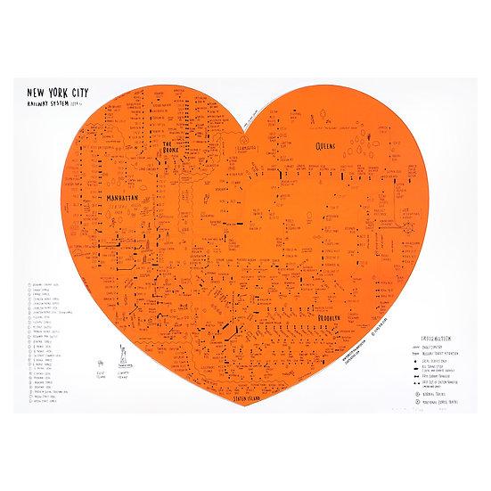 NYC HEART / ORANGE
