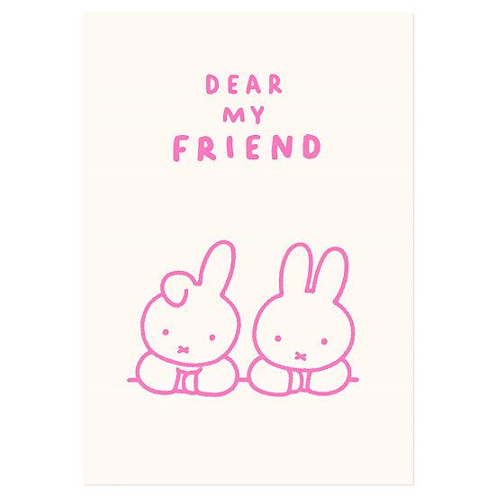DEAR MY FRIEND   Miffy Pressed Card