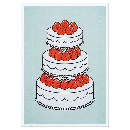 STRAWBERRY CAKE MINT | A3 RISO poster
