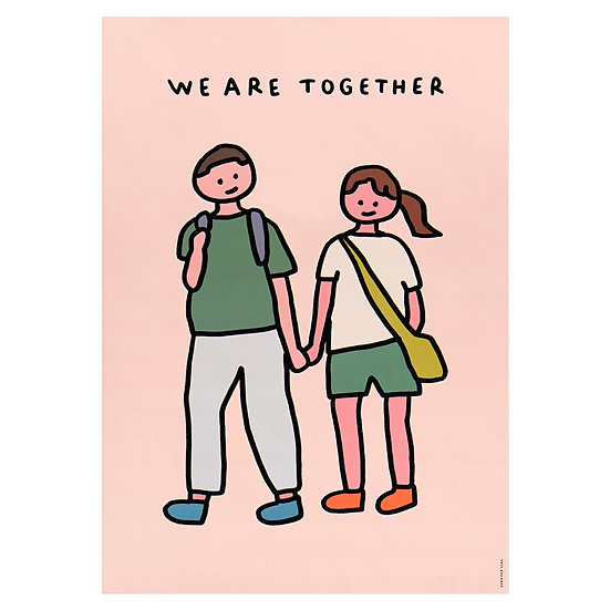 COUPLE2 (TOGETHER) | A3 poster