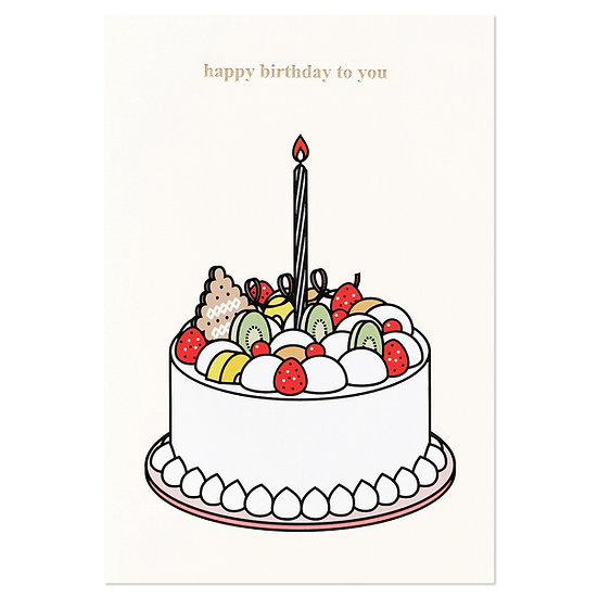 CREAM CAKE   Cake card