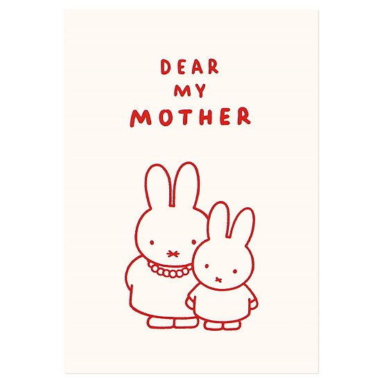 DEAR MY MOTHER | Miffy Pressed Card