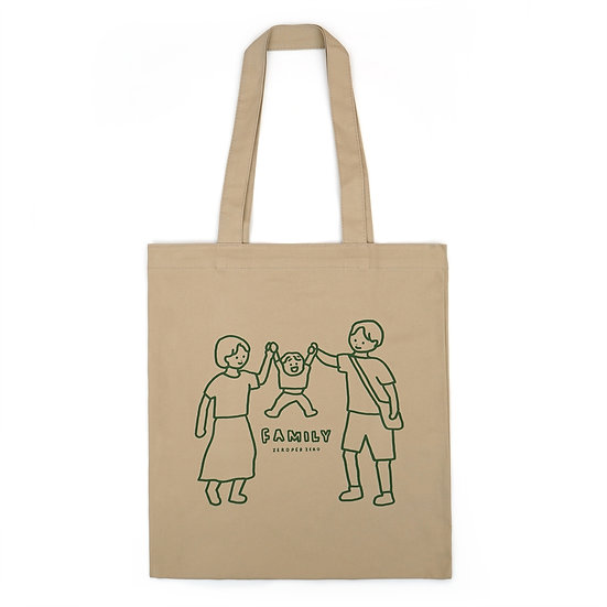 FAMILY JUMP beige | Eco bag