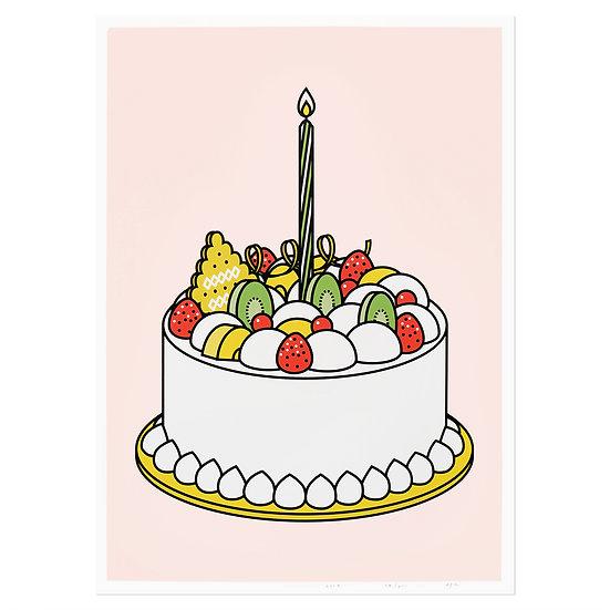 CREAM CAKE | Silkscreen poster
