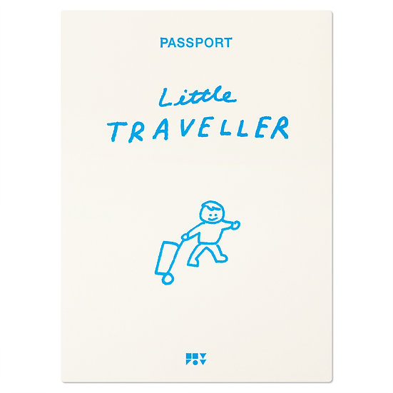 LITTLE TRAVELLER blue | Passport cover