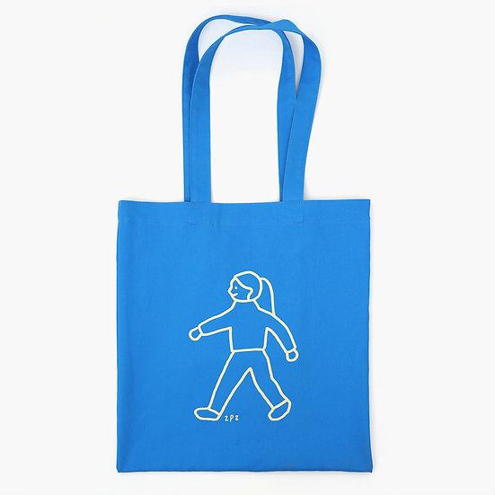 WALK WALK girl blue | Eco bag