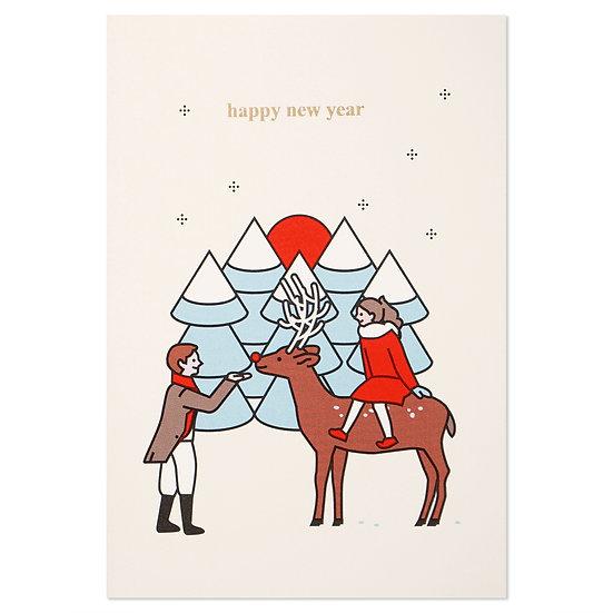 Boy and Girl | Christmas card