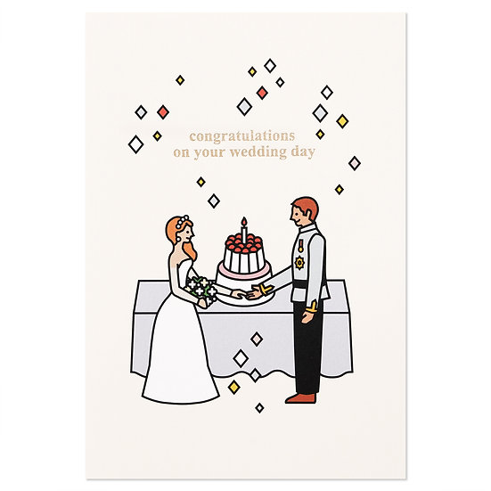 WEDDING COUPLE | Cake card