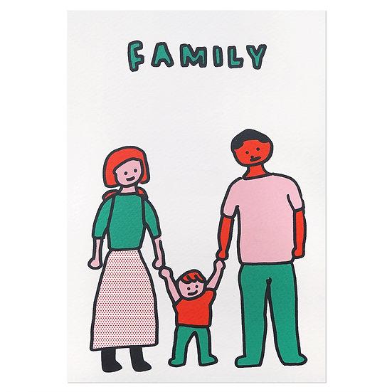 FAMILY | Silkscreen card
