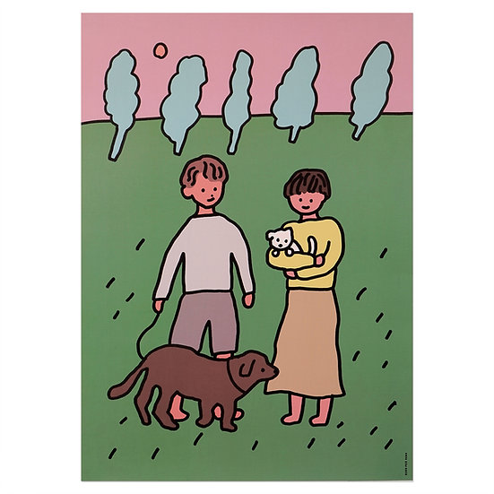 COUPLE&DOG | A3 poster