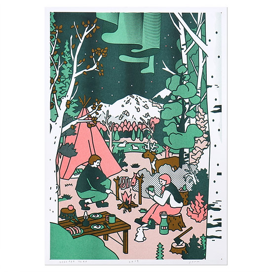 CAMPING   A3 RISO poster