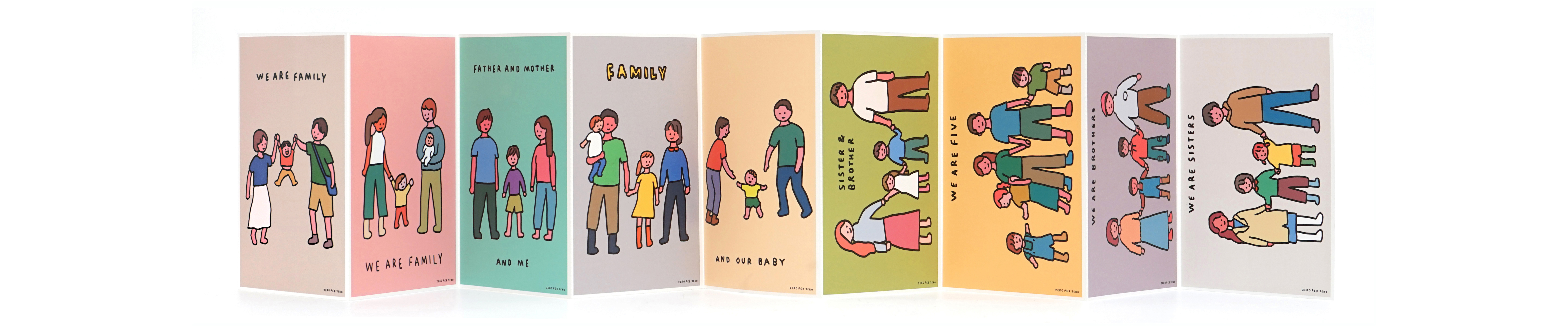 Postcard Set | Family