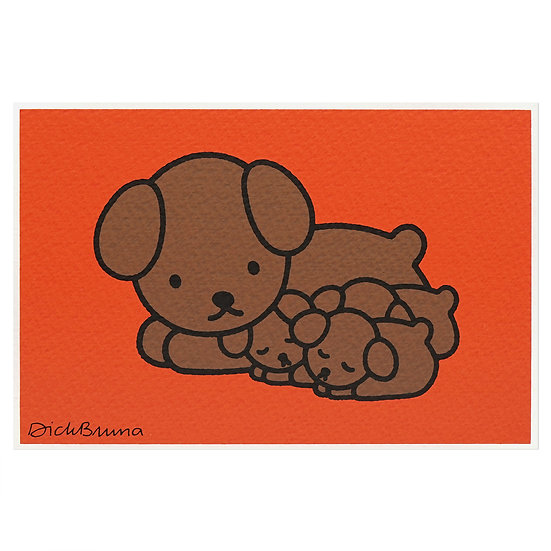 SNUFFY AND BABIES | Miffy Postcard