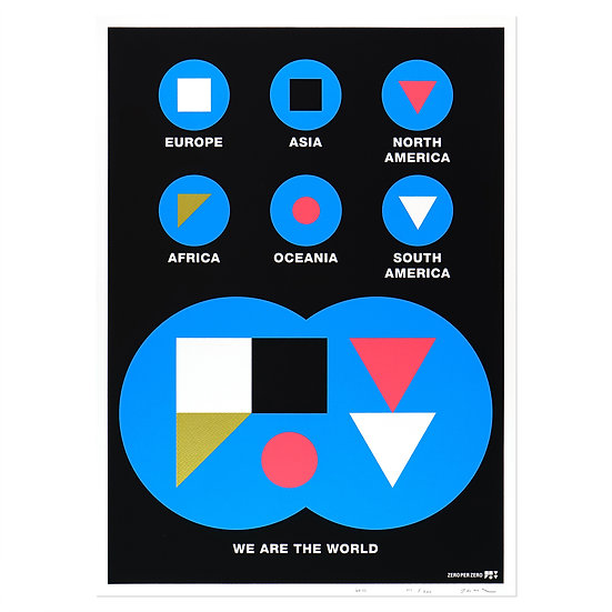 WE ARE THE WORLD   Silkscreen poster