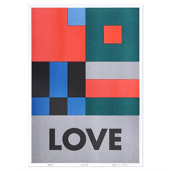 LOVE   A3 RISO poster