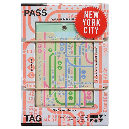NYC beige | Pass tag