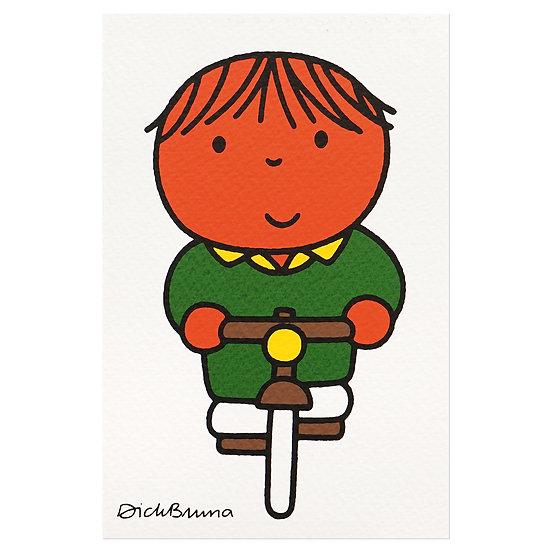 BICYCLE BOY | Miffy Postcard