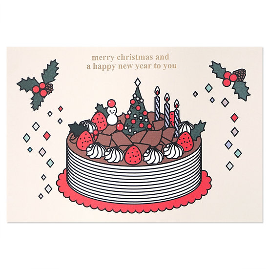 CHOCOLATE CAKE2   Christmas card