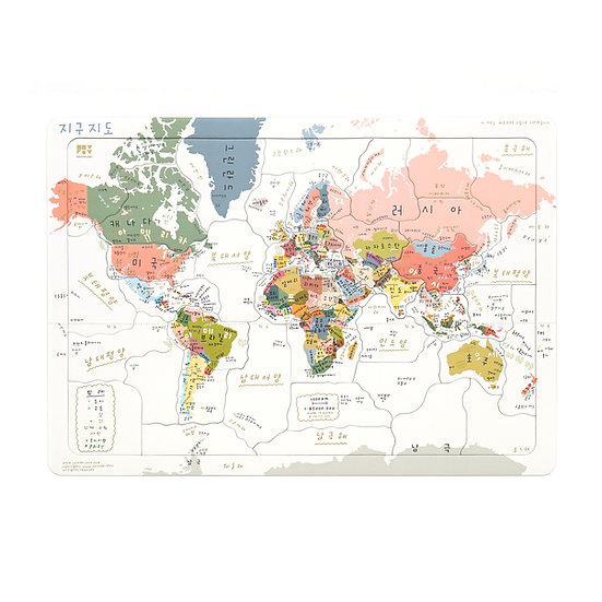 WORLD MAP(Korean ver.) PUZZLE | Jigsaw Puzzle