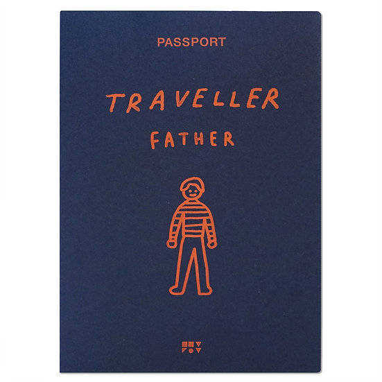 FATHER navy | Passport cover
