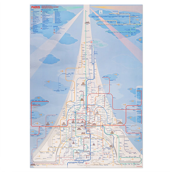 PARIS   Railway Poster