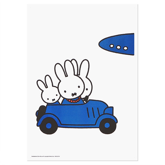 MIFFY TRAVELLING | MIFFY A3 RISO poster