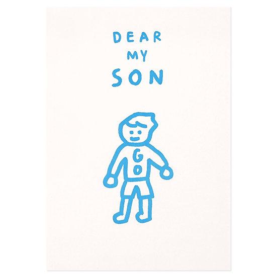 DEAR MY SON   Pressed Card