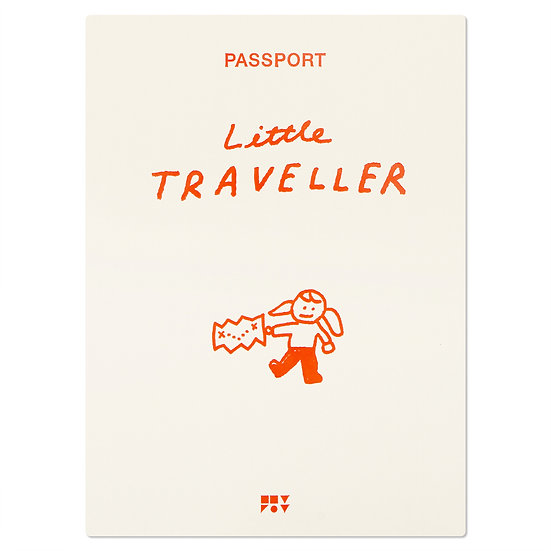 LITTLE TRAVELLER orange | Passport cover