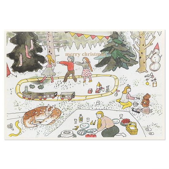 CHOO CHOO TRAIN   Christmas card