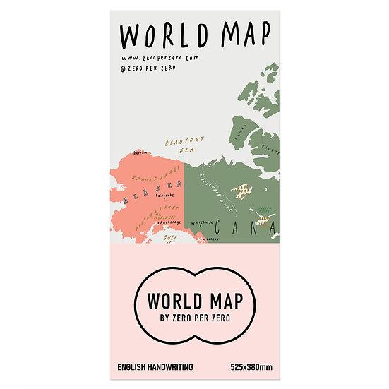 WORLD MAP folded | World map poster