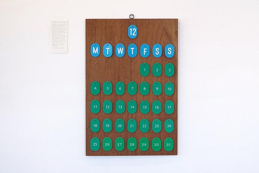 Number Plate Calendar | Large