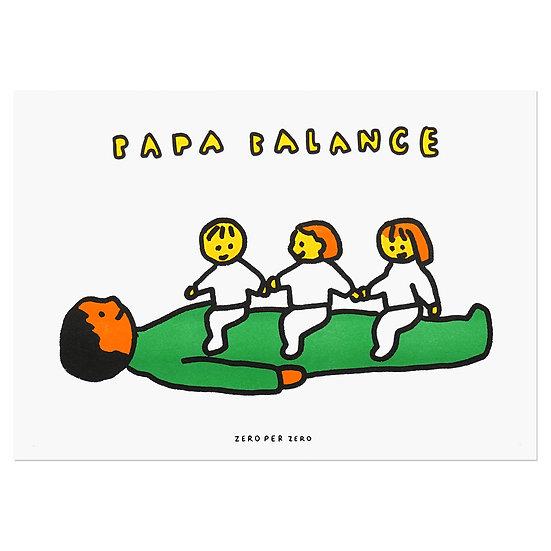 PAPA BALANCE 3   A3 RISO poster