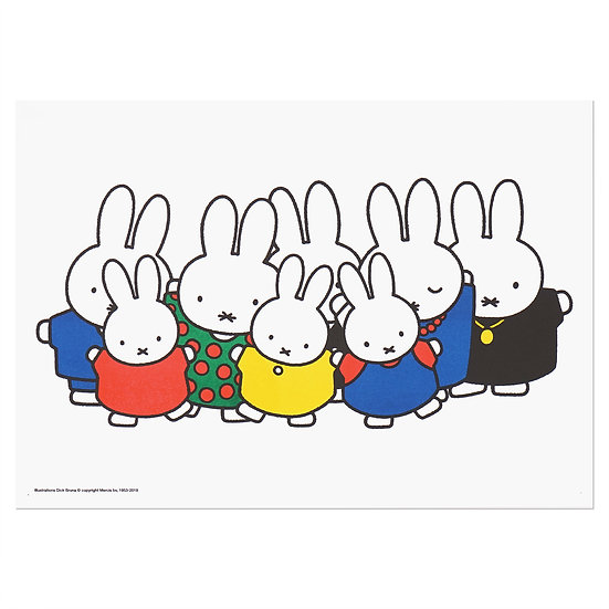 MIFFY BIG FAMILY | MIFFY A3 RISO poster