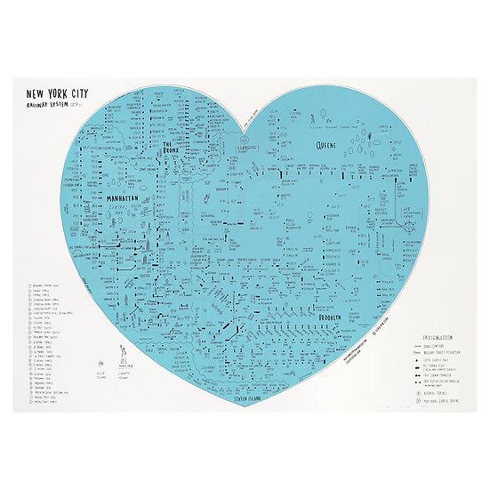 NYC HEART / BLUE