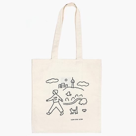 WALKWALK SEOUL ivory | Eco bag