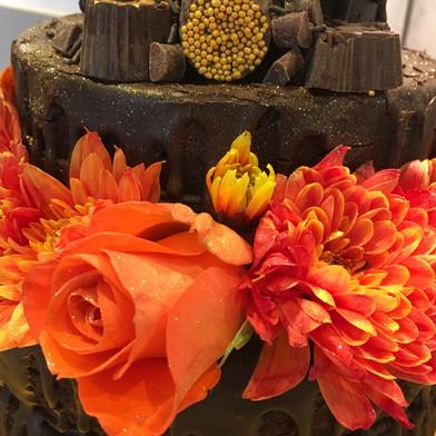 Kates Kakes 100th Birthday Chocolate Drip Cake