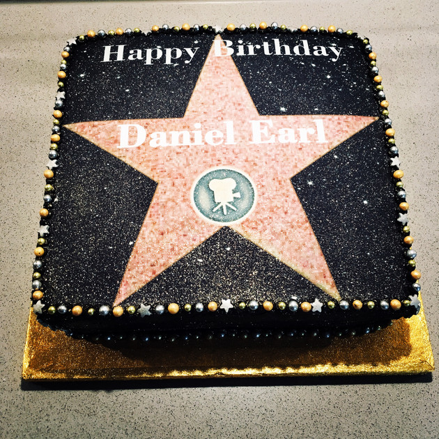 Kates Kakes Hollywood Walk Of Fame Birthday Cake