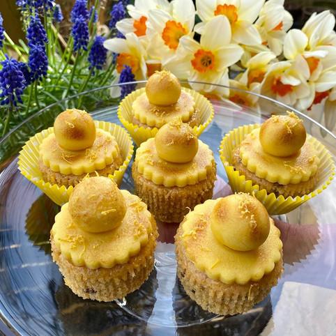 Kate's Kakes Lemon Simnel Cupcakes.