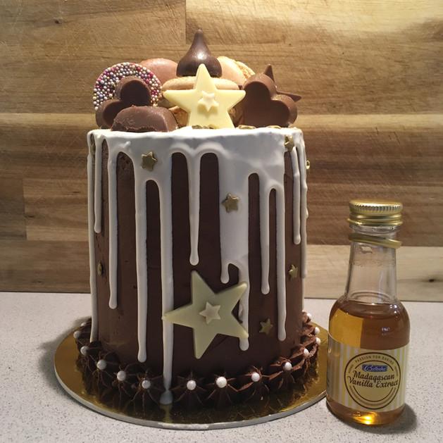Kates Kakes Mini Chocolate Birthday Cake.