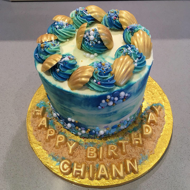 Kates Kakes Marine Themed Birthday Cake