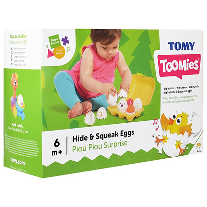Tomy Hide and Squeek Eggs