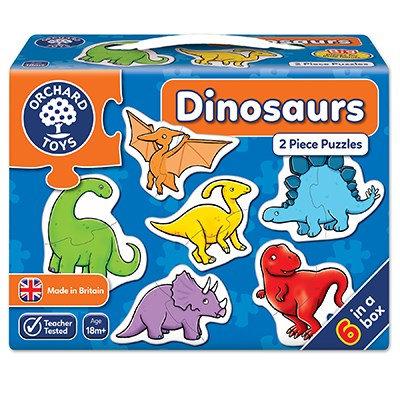 Dinosaur 2 piece puzzles x6