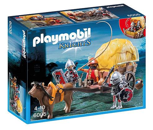 Playmobil 6005 Knights Hawk's with Camoflage Wagon.