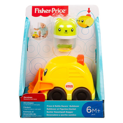 Fisher Price Press & Rattle Racers Bulldozer