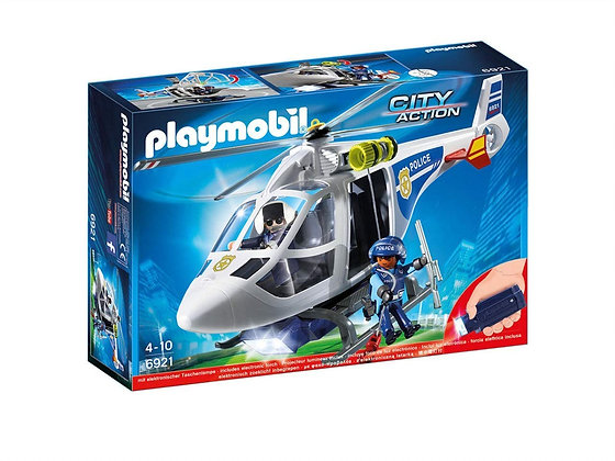 Playmobil 6921 City Action Police Helicopter with LED Searchlight.